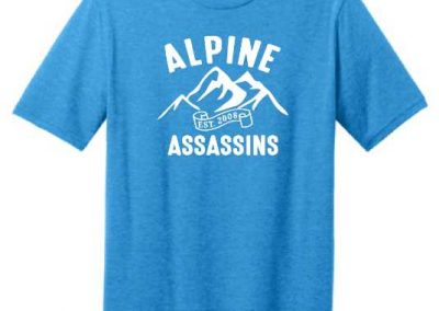 Alpine Assassins snowmobile group custom screen printed t shirts