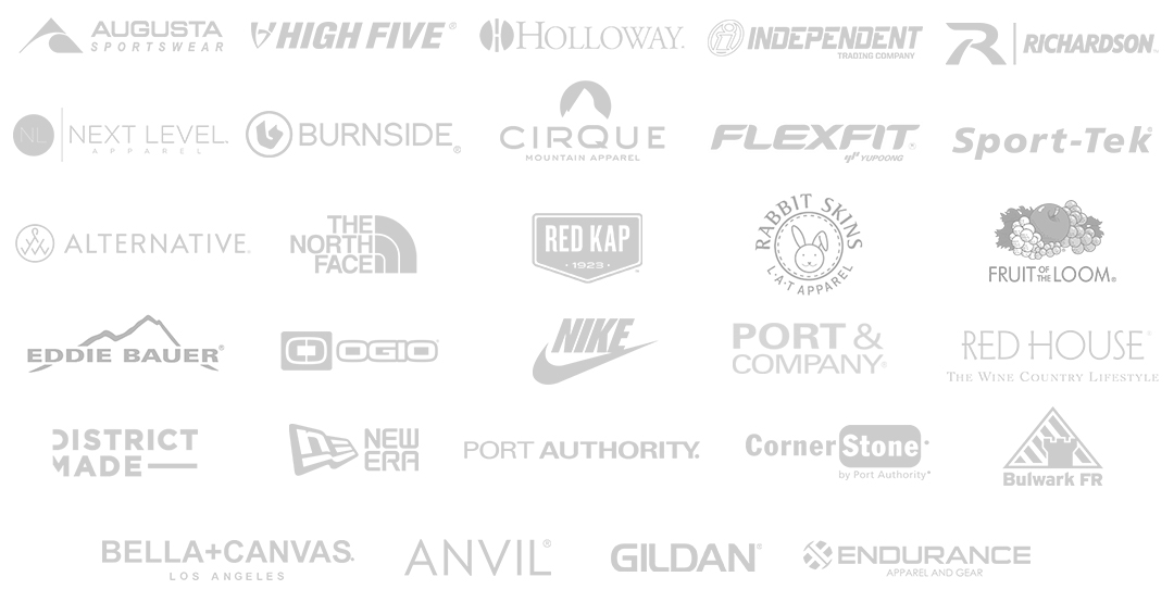 Maven Printing top brands for branded apparel, gear, and custom t shirts