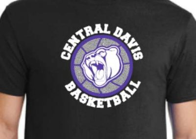 Central Davis Basketball spirit wear t shirts printing