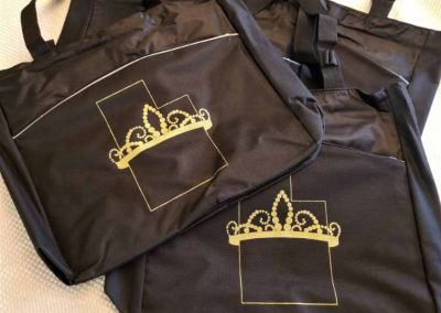 Miss Utah For America Pageant totes - gold screen printing