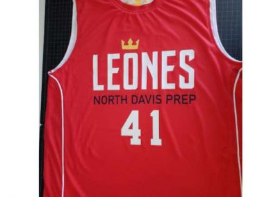 NDPA Basketball reversible Champro jerseys (red front, vinyl heatpress)