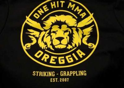 One Hit MMA custom hoodies - silk screen printing