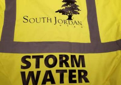 South Jordan Utah Storm Water - yellow safety shirts with vinyl heat press
