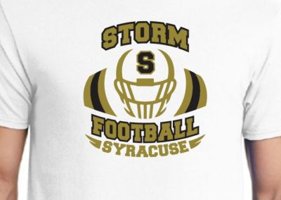 Syracuse Storm Football graphic t shirts - custom screen printing