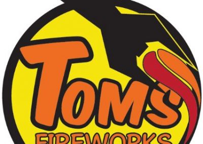 Tom's Fireworks Wyoming branding and logo design