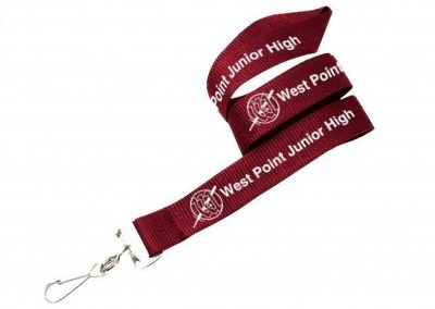 West Point Junior High School logo'd lanyards (promotional product)