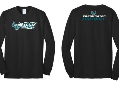 Farmington High School Football spirit shirts silk screen printing