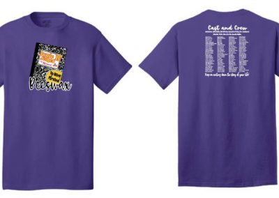 Hidden Hollow Junie B. Jones cast and crew printed shirts