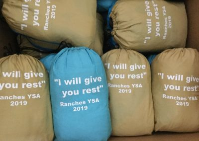 Ranches YSA camp cinch bags