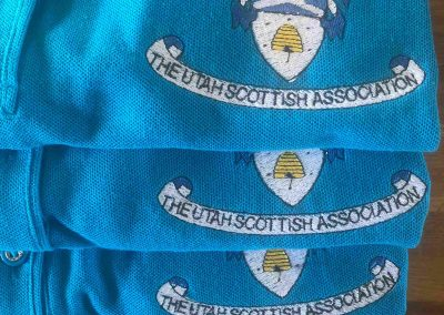 The Utah Scottish Association - embroidered polos for festival