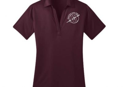 West Point Junior High logo branded school uniform polos